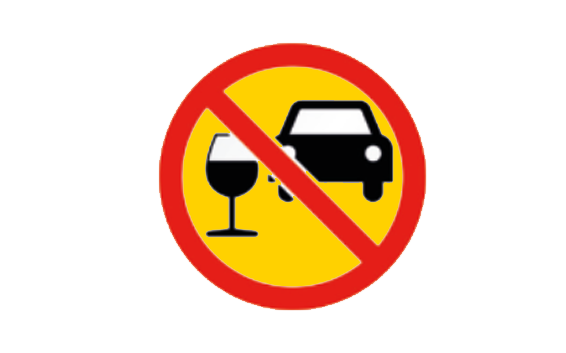 NO ALCOHOL WHILE DRIVING