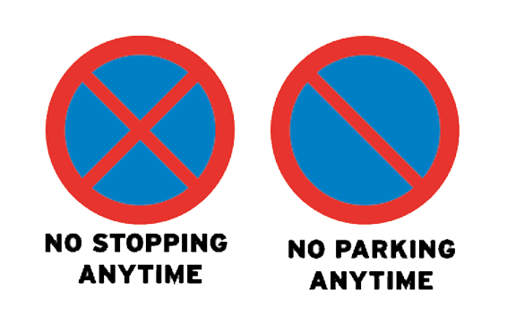 DO NOT STOP OR PARK